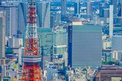 Tokio wierza i miastowy krajobraz fotografia royalty free