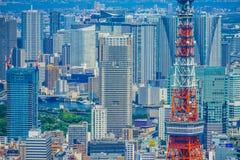 Tokio wierza i miastowy krajobraz obrazy royalty free