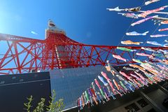 Tokio wierza na jasnym wiosna dniu fotografia stock