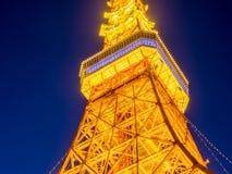 Tokio wierza w mrocznym czasie Obraz Stock
