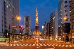 Tokio wierza zmierzch obraz royalty free