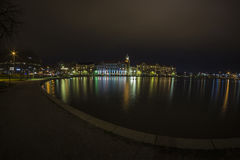 Tokoinranta in Helsinki, Finland at night Royalty Free Stock Photography