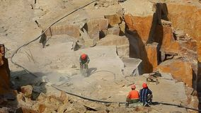 Tokovskygebied van graniet stock footage