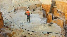 Tokovskygebied van graniet stock video