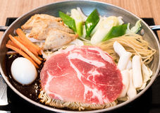 Tokpokki - traditional Korean food, hot pot style. Stock Images