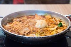 Tokpokki - traditional Korean food, hot pot style. Stock Image