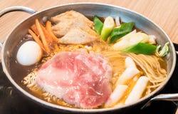 Tokpokki - traditional Korean food, hot pot style. Royalty Free Stock Photo