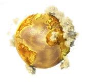 Toksyczna planeta z chmurami Obrazy Stock