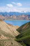 Toktogul  highland mountain lake in Kyrgyzstan Stock Photos