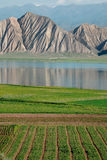Toktogul  highland mountain lake in Kyrgyzstan Stock Photography