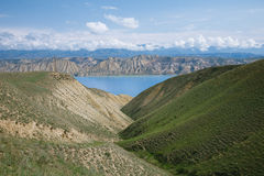 Toktogul  highland mountain lake in Kyrgyzstan Stock Images