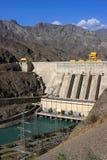 The Toktogul hydroelectric power station Royalty Free Stock Photo