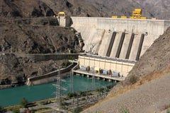 Toktogul hydroelectric power station Royalty Free Stock Photography