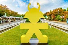 Tokugawa Ieyasu Symbol in Osaka, Japan. OSAKA, JAPAN - OCTOBER 27: Tokugawa Ieyasu Symbol in Osaka, Japan on October 27, 2014. Osaka Castle celebrate the 400th Stock Photos