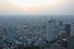 Tokyo. Aerial view from Tokyo city in Japan stock photography