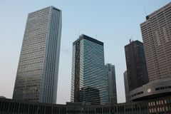 Tokyo. Low angle view from the Tokyo metropolitan government offices stock photography
