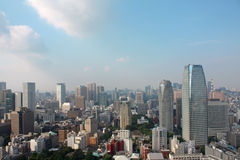 Tokyo. Aerial view from Tokyo skyline in Japan royalty free stock image