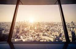 Tokyo aerial view from observatory Stock Photo