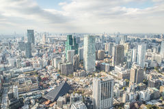 Tokyo aerial view from tower Royalty Free Stock Photo