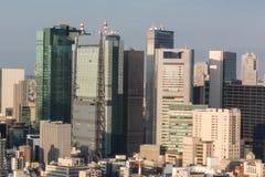 Tokyo affärsområde Arkivbild