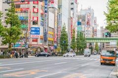 Tokyo, Akihabara 26 november, 2015 Akihabara in Tokyo Stock Afbeelding