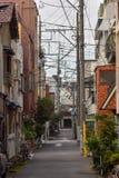 Tokyo Alleyway Wireway stock images