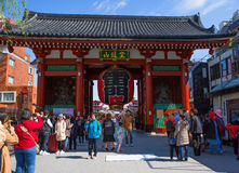 Tokyo Asakusa Il tubo principale del tempio di Senso-JI Fotografia Stock