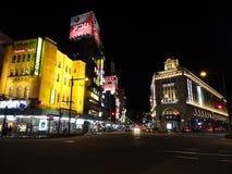 Tokyo Asakusa. Nightscene in Tokyo Asakusa; crossing next to Tobu Station and Tokyo Metro Stock Photo
