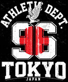 Tokyo Athletic sport typography, t shirt graphics, vectors. Fashion style Stock Illustration