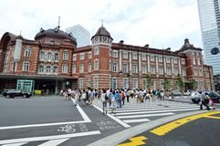 TOKYO - AUGUST 02: People who visit Tokyo train station in August 02 2013, one of the Largest in Tokyo Stock Photos