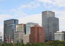 Tokyo-Bürogebäude Lizenzfreies Stockfoto