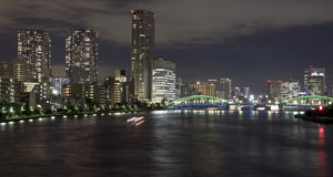 Tokyo bay. Night view of Tokyo Bay Stock Images