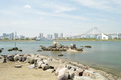 Tokyo Bay. Bridge and Skyline from Tokyo Bay Royalty Free Stock Images