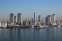 Tokyo bay. And the city view of Harumi-Futo which were photographed from Rainbow-Bridge Stock Photos
