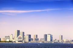 Tokyo Bay, futuristic architecture, office building facade Stock Photography