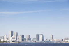 Tokyo Bay, futuristic architecture, office building facade Stock Images