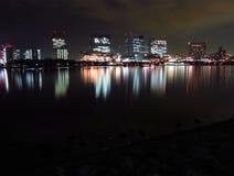 Tokyo Bay at night Royalty Free Stock Photos