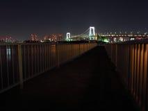 Tokyo Bay at night Stock Image