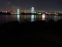 Tokyo Bay at night Royalty Free Stock Photo