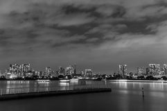 Tokyo Bay. Night view of Tokyo bay seen from Odaiba island Royalty Free Stock Photo