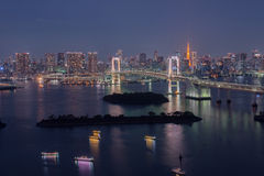 Tokyo Bay at Rainbow Bridge Royalty Free Stock Photography