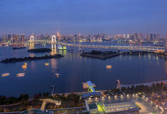 Tokyo Bay at Rainbow Bridge Royalty Free Stock Photos