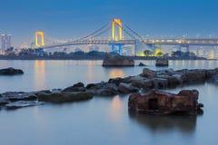 Tokyo Bay at Rainbow Bridge Royalty Free Stock Photography