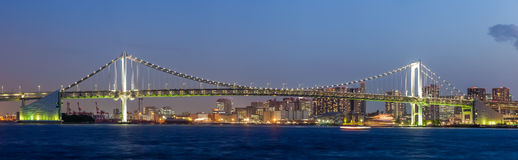 Tokyo bay and rainbow bridge Stock Image