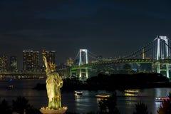 Tokyo Bay at Rainbow Bridge,  Tokyo, Japan. Royalty Free Stock Photos