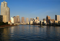 Tokyo bay skyline Stock Images