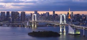 Tokyo bay with Tokyo rainbow bridge Stock Image