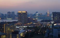 Tokyo bay and Tokyo Tower Stock Photos