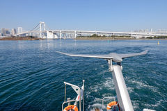 Tokyo Bay view. From Tokyo Cruise boat at Odaiba Seaside Park in Tokyo, Japan Royalty Free Stock Photo
