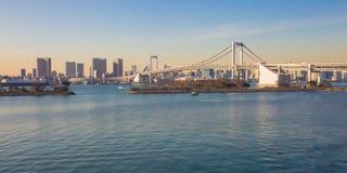 Tokyo bay view from Odaiba Royalty Free Stock Photos